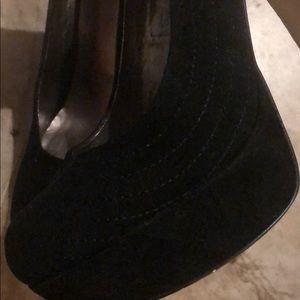 JustFab Shoes - Black suede heels